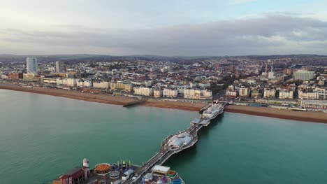 Panning-Shot-of-Brighton-from-Drone-4K