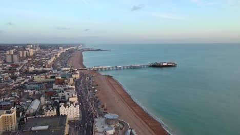 Flying-Along-Brighton-Coastline-4K