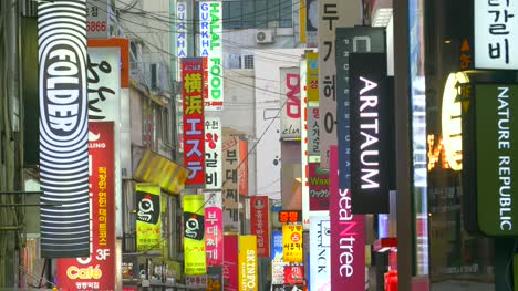 Signs-on-a-Seoul-Shopping-Street