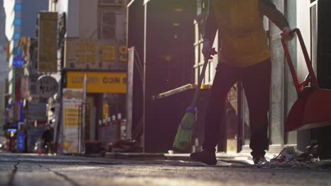 Street-Cleaner-in-Seoul-at-Dawn