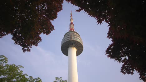 Looking-Up-at-Seoul-Tower