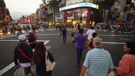 Crossing-Hollywood-Intersection-at-Dusk