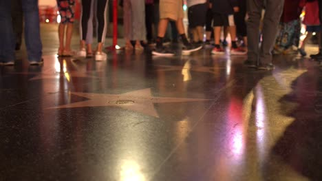 Hollywood-Walk-of-Fame-at-Night