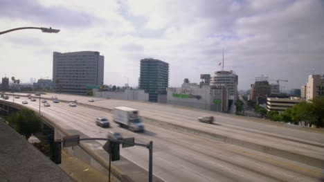 Cars-Driving-Down-a-Los-Angeles-Highway