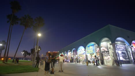Venice-Beach-Shops-At-Nightime