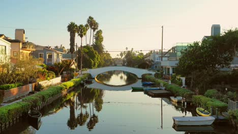 Flying-Along-Canal-in-Los-Angeles