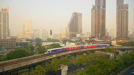 Skytrain-Passing-Through-Bangkok