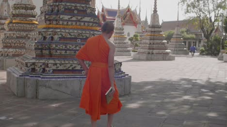 Monk-Walking-Through-Buddhist-Temple