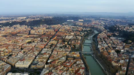 Aerial-View-Of-River-Tiber