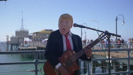 Busker-in-Donald-Trump-Mask