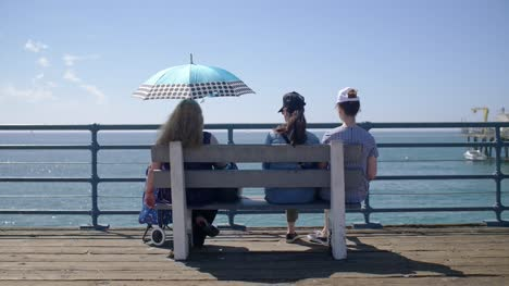 Women-on-A-Bench-by-the-Sea