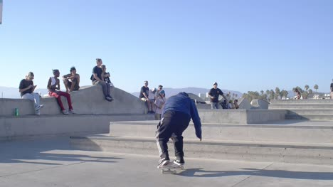 Skater-Performing-Trick-at-Venice-Beach