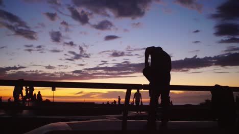 Skateboarder-Silhouette-at-Sunset