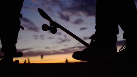 Skateboard-Silhouette-Close-Up