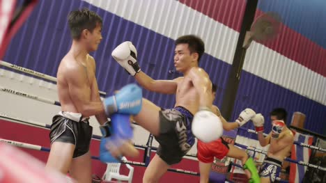 Muay-Thai-Boxers-Sparring
