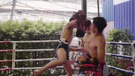 Three-Muay-Thai-Boxers-Sparring