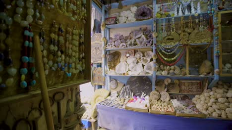 Fossils-and-Beads-in-Moroccan-Shop