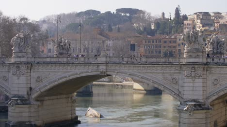 Upturned-Boat-Under-Sant-Angelo-Bridge-in-Rome