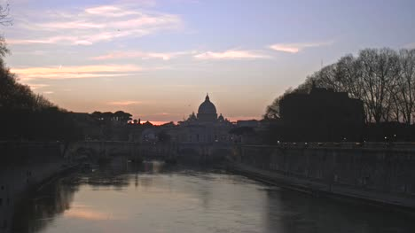 River-Tiber-and-St-Peters-Basilica-at-Dusk