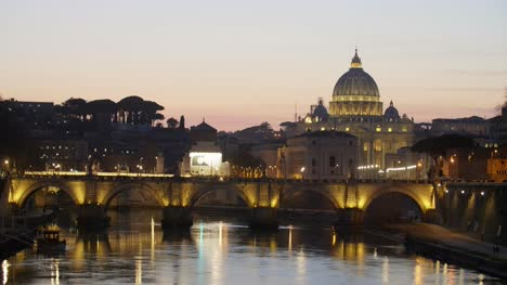 Bridge-and-St-Peters-Basilica-Lit-Up-at-Dusk