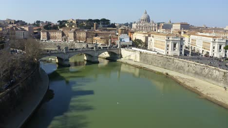 Flying-Over-St-Angelo-Bridge
