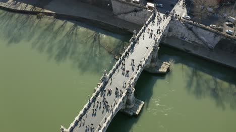 Aerial-View-People-Walking-Over-St-Angelo-Bridge