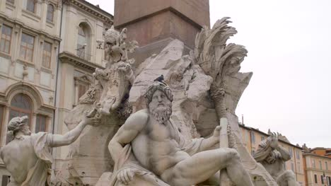 Close-Up-Of-Piazza-Navona-Fountain-