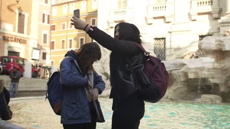 Taking-Selfie-At-Trevi-Fountain