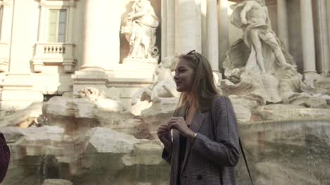 Smiling-In-Front-Of-Trevi-Fountain
