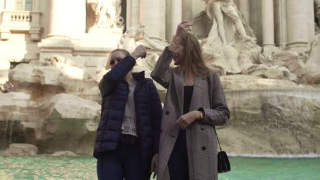 Throwing-Coins-In-Trevi-Fountain