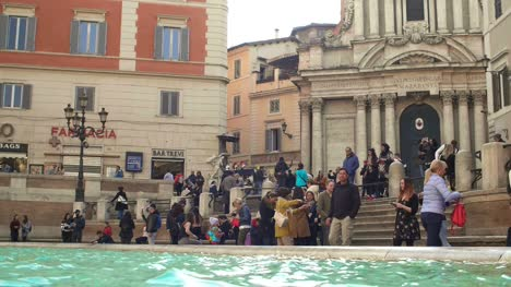 People-At-Piazza-Di-Trevi