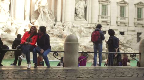 People-Walking-Around-Trevi-Fountain