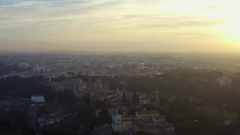 Aerial-View-Of-Rome-Cityscape