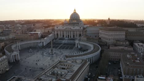 Flying-Towards-Vatican-City