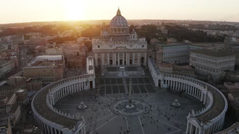 Sun-Shining-Behind-St-Peters-Basilica