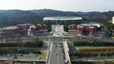Flying-Towards-Stadio-Olimpico