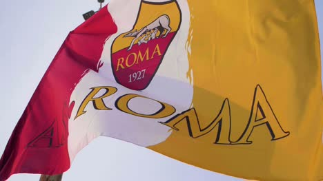 AS-Roma-Flag-In-Slow-Motion