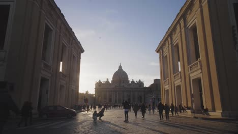 Tourists-At-St-Peters-Basilica-Square
