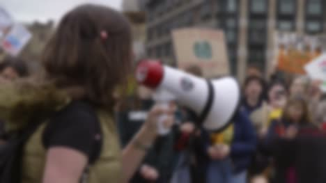 Protester-Shouting-Through-Megaphone