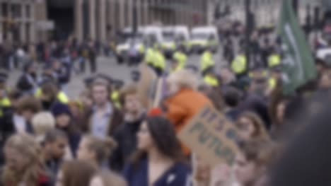 Out-of-Focus-Protest-Scene