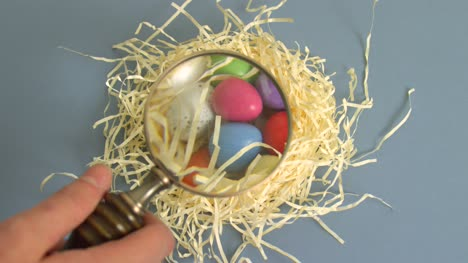 Magnifying-Glass-Over-Easter-Eggs