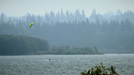 Kitesurfer-On-A-Lake