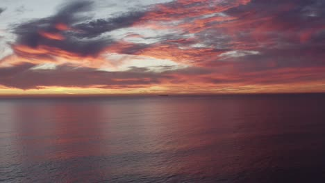 Red-Sky-Over-Atlantic-Ocean