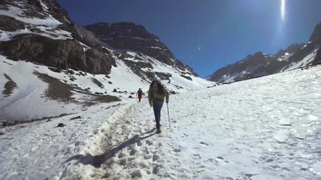 Hiking-Through-Mountain-Snow