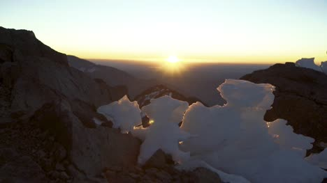 Mountaintop-Ice-Formation-at-Sunset