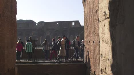 People-Walking-In-Slow-Motion-At-Colosseum