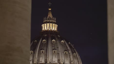 Vatican-Dome-Lit-Up-At-Night