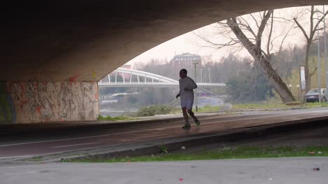 Running-Under-Bridge