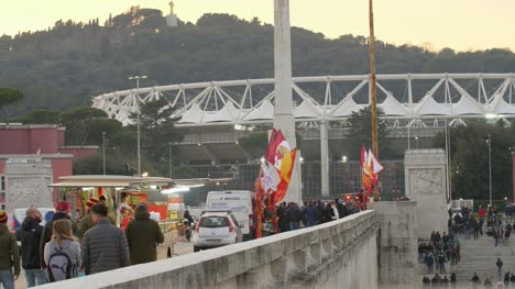 Fans-Walking-To-Stadio-Olimpico