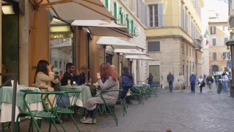 People-Dining-Outside-A-Cafe